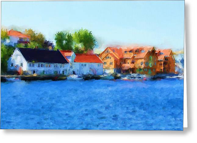 Haugesund Greeting Cards - Kai Haugesund Greeting Card by Michael Greenaway