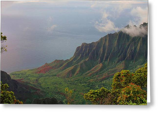 Lanscape Greeting Cards - Kalalau Lookout - Kauai Greeting Card by Stephen  Vecchiotti