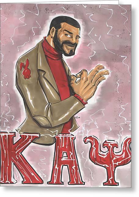 Psi Greeting Cards - Kappa Alpha Psi Fraternity Inc Greeting Card by Tu-Kwon Thomas