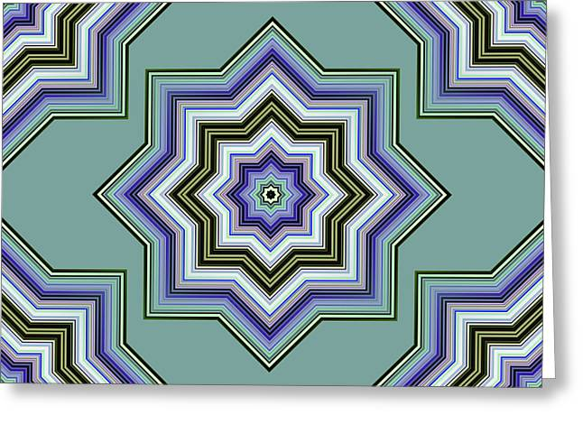 Abstract Style Greeting Cards - Karac No.3 Greeting Card by Danny Lally