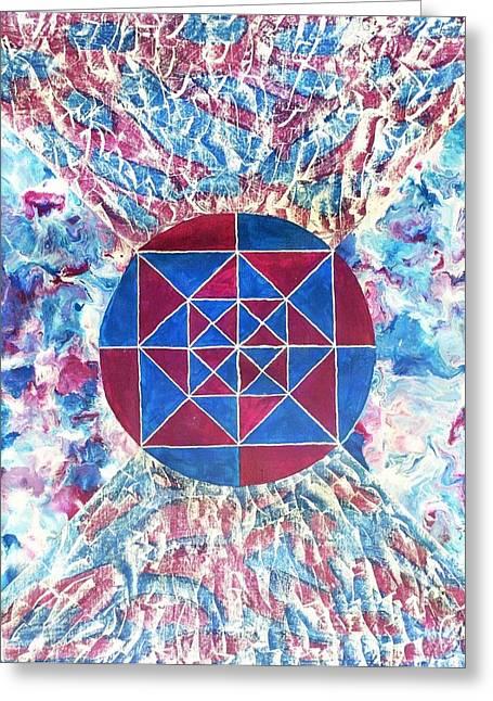 Illusion Greeting Cards - Karpaksh Greeting Card by Sumit Mehndiratta