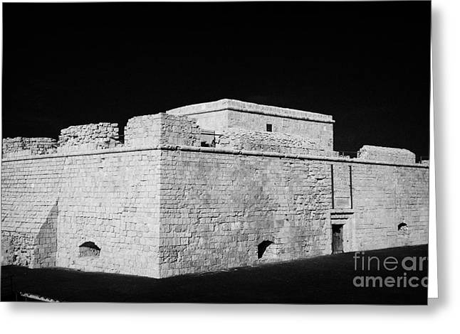 Pafos Greeting Cards - Kato Paphos Mediaeval Fort With Stage Built Around The Front Harbour Republic Of Cyprus Greeting Card by Joe Fox