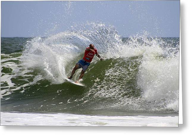 Kelly Slater Greeting Cards - Kelly Slater Greeting Card by Noel Elliot