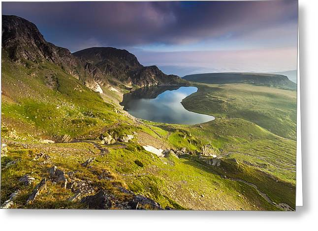 Bulgaria Greeting Cards - Kidney Lake Greeting Card by Evgeni Dinev