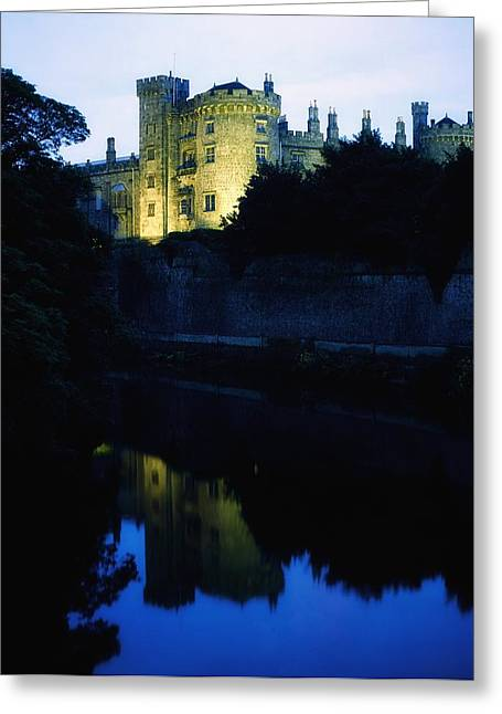 Reflecting Water Greeting Cards - Kilkenny Castle, Co Kilkenny, Ireland Greeting Card by The Irish Image Collection