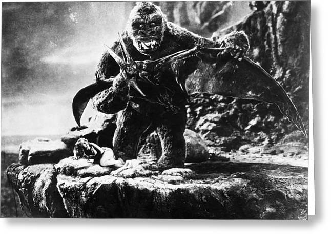 Wray Greeting Cards - King Kong, 1933 Greeting Card by Granger