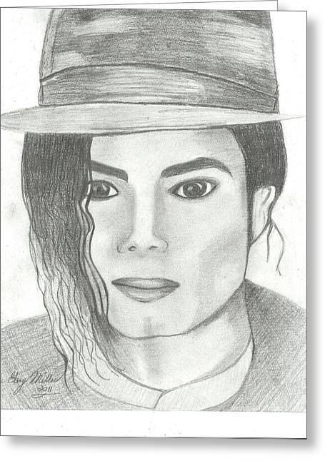 Recently Sold -  - Mj Drawings Greeting Cards - King of Pop Greeting Card by Gary Miller