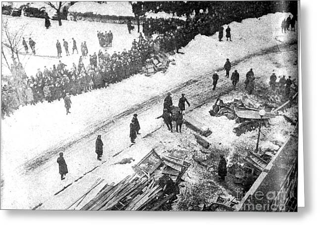 Knickerbockers Greeting Cards - Knickerbocker Storm Damage, 1922 Greeting Card by Science Source