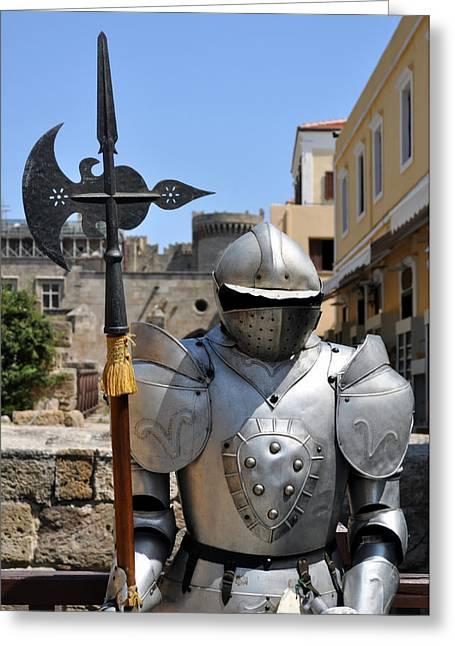 Knight Armor. Greeting Card by Fernando Barozza