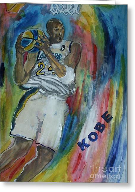 Kobe Bryant Greeting Cards - Kobe Greeting Card by Wayne LE ONE