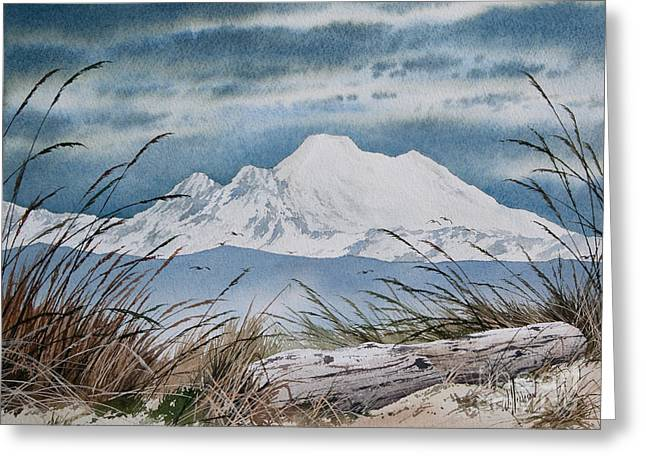 Landscape Framed Prints Greeting Cards - Koma Kulshan Greeting Card by James Williamson