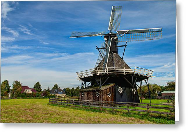 Netherlands Greeting Cards - Koudum Molen Greeting Card by Chad Dutson