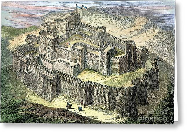 Holy War Greeting Cards - Krak Des Chevaliers Greeting Card by Granger
