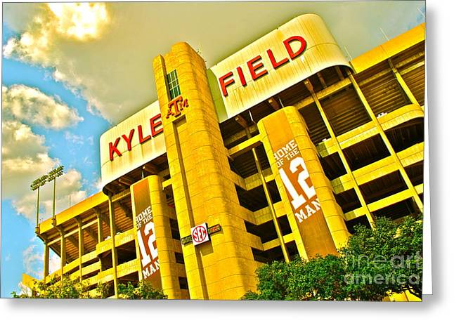 Conference Greeting Cards - Kyle Field Aggieland Greeting Card by Chuck Taylor
