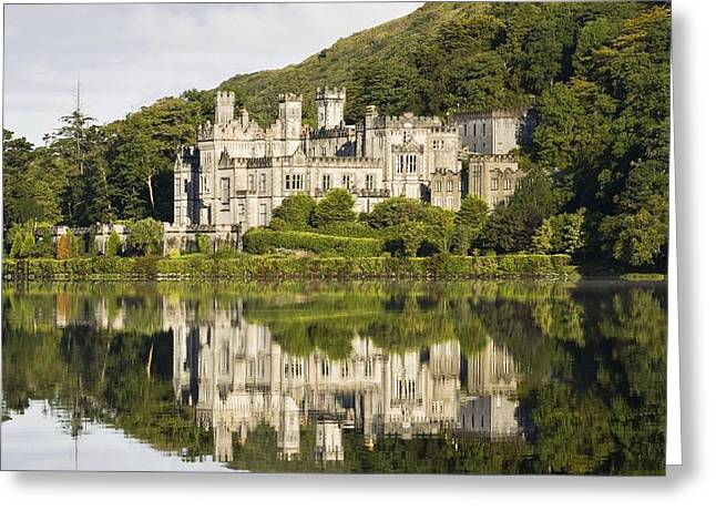 Co Galway Greeting Cards - Kylemore Abbey, County Galway, Ireland Greeting Card by Peter McCabe