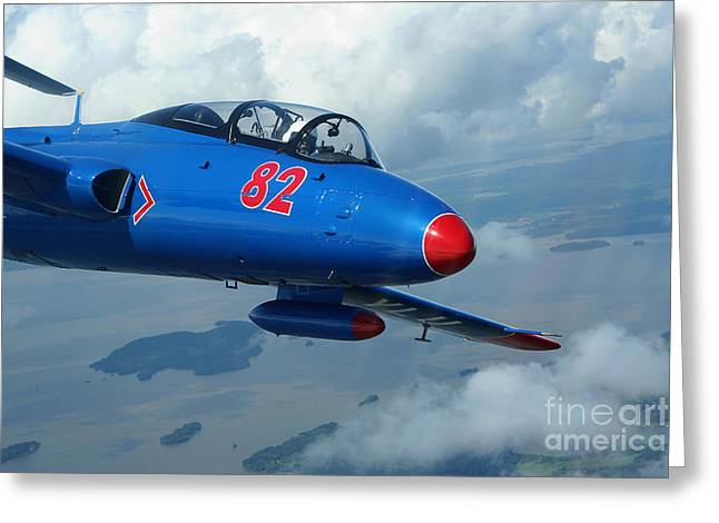 Trainer Aircraft Greeting Cards - L-29 Delfin Standard Jet Trainer Greeting Card by Daniel Karlsson