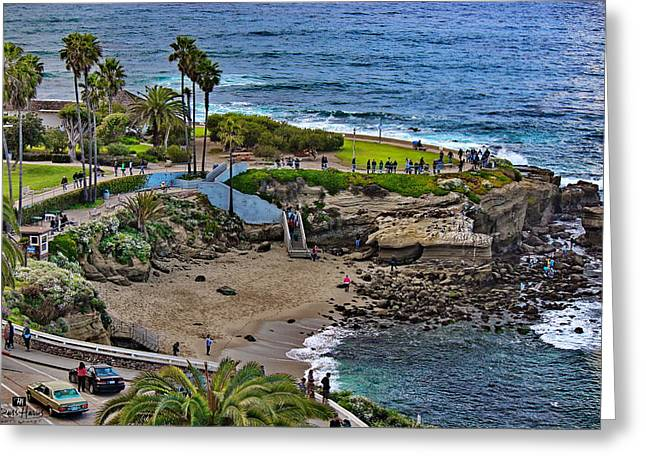 La Jolla Cove Greeting Card by Russ Harris