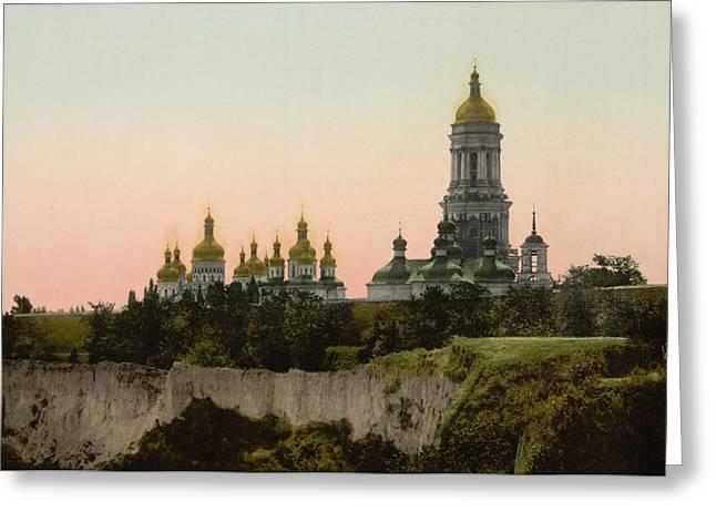 Kyiv Greeting Cards - La Lavra - Kiev - Ukraine - ca 1900 Greeting Card by International  Images