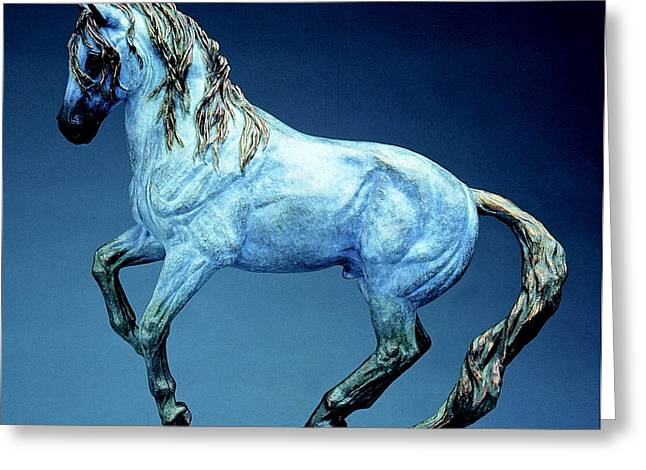Western Western Art Sculptures Greeting Cards - La Luz Greeting Card by Peggy Detmers
