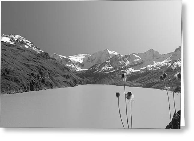 Wintry Photographs Greeting Cards - Lac Des Dix Greeting Card by Marc Huebner