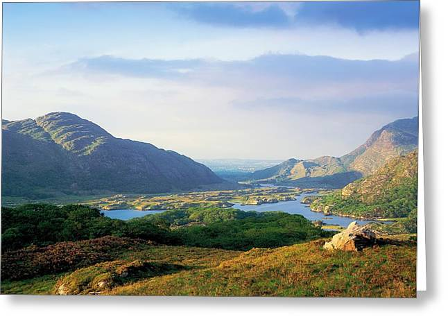 Lady In Lake Greeting Cards - Ladies View, Killarney, Co Kerry Greeting Card by The Irish Image Collection