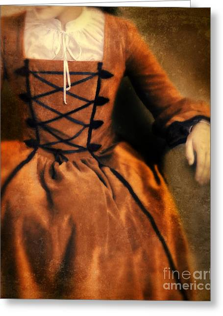 Renaissance Clothing Greeting Cards - Lady in Renaissance Gown Greeting Card by Jill Battaglia