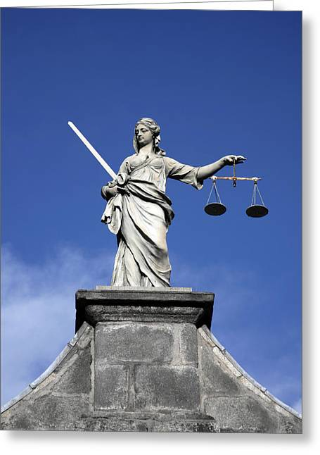 Attorney Greeting Cards - Lady Justice Greeting Card by Joe Burns