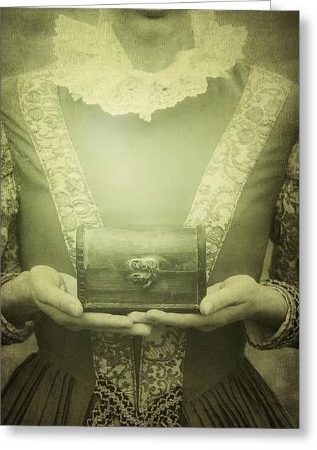 Lady With A Chest Greeting Card by Joana Kruse