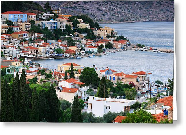 Lagada. Chios Greece  Greeting Card by Emmanuel Panagiotakis
