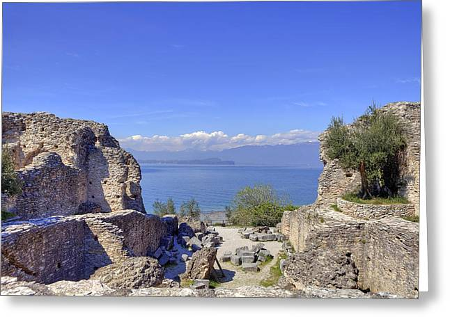 Historically Greeting Cards - Lake Garda Greeting Card by Joana Kruse