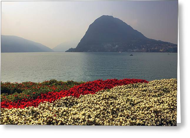 Monte Greeting Cards - Lake Lugano - Monte Salvatore Greeting Card by Joana Kruse