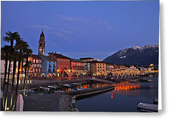 Plane Trees Greeting Cards - Lake Maggiore - Ascona Greeting Card by Joana Kruse