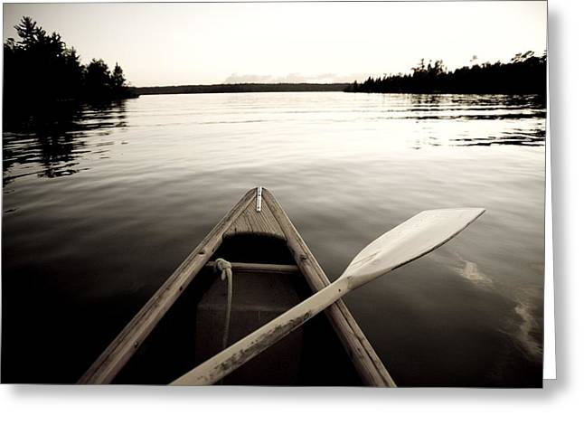Free Of Peace Greeting Cards - Lake Of The Woods, Ontario, Canada Boat Greeting Card by Keith Levit