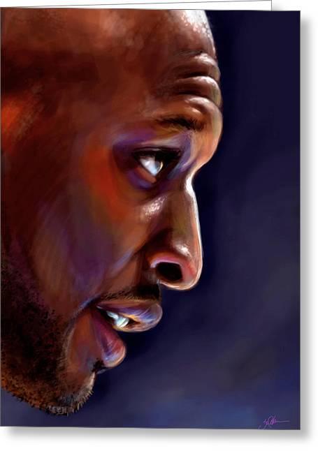 Lakers Digital Art Greeting Cards - Lamar Greeting Card by Jack Perkins