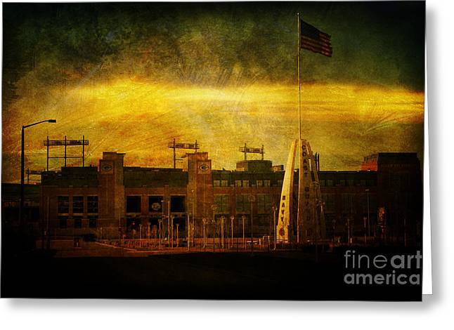Lambeau Field Greeting Card by Joel Witmeyer