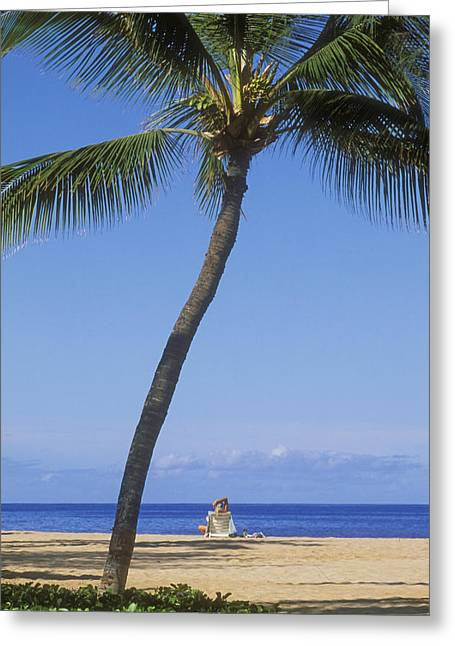 Quiet Read Greeting Cards - Lanai, Manele Bay Greeting Card by Greg Vaughn - Printscapes