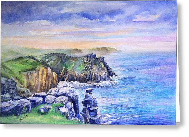 Pebbles Greeting Cards - Lands End Vista Greeting Card by Merv Scoble