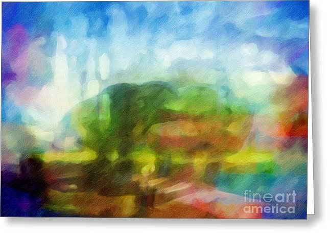 Impressions Digital Greeting Cards - Landscape Impression Greeting Card by Lutz Baar