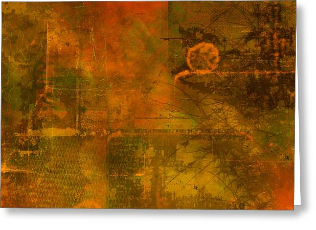 Distressed Greeting Cards - Landscape of Mars Greeting Card by Christopher Gaston