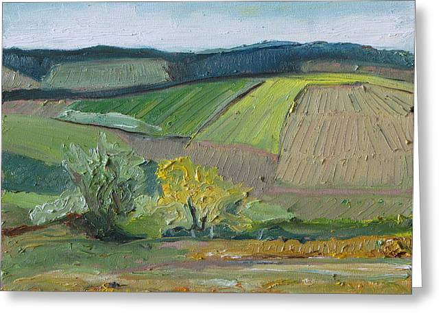 Francois Fournier Greeting Cards - Landscape Patchwork no2 Greeting Card by Francois Fournier