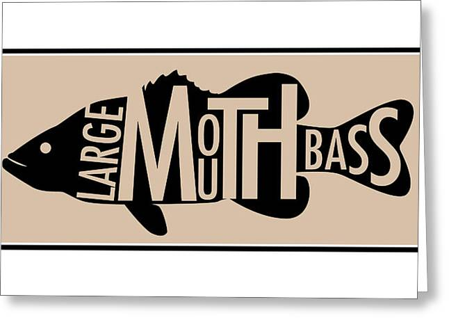 Bass Digital Art Greeting Cards - Largemouth Bass  Greeting Card by Geoff Strehlow