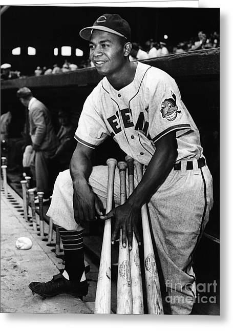 Doby Greeting Cards - Larry Doby (1923-2003) Greeting Card by Granger