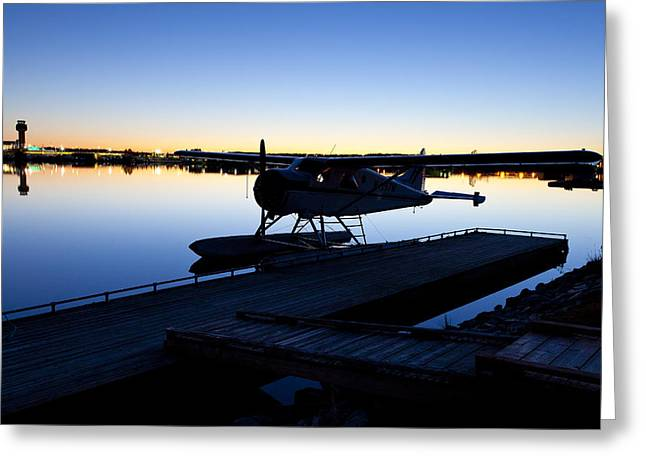 Best Sellers -  - Traffic Control Greeting Cards - Last Light at Lake Hood Greeting Card by Tim Grams