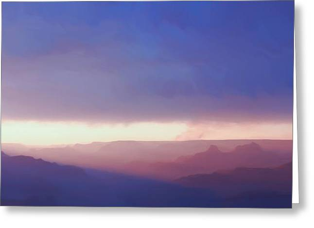 The Grand Canyon Greeting Cards - Last Light Of Day Greeting Card by Heidi Smith