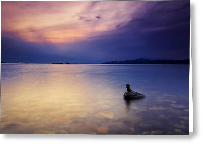 West Vancouver Greeting Cards - Last Man Standing Greeting Card by Jorge Ligason