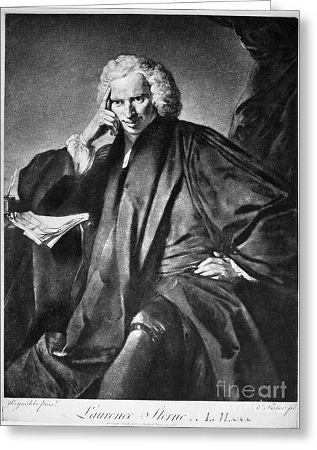 Laurence Sterne (1713-1768) Greeting Card by Granger