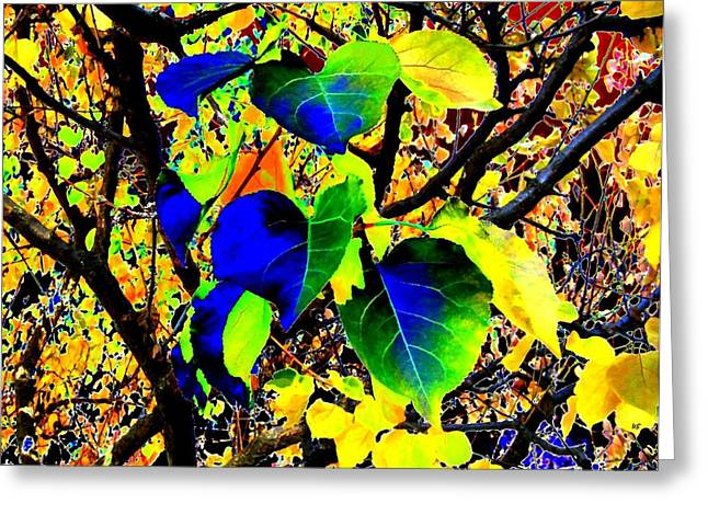Apricot Digital Art Greeting Cards - Lavish Leaves 1 Greeting Card by Will Borden