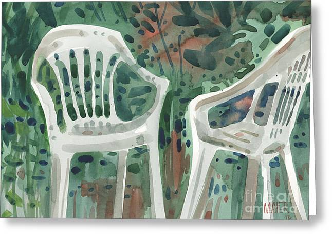 Lawn Chair Greeting Cards - Lawn Chairs Greeting Card by Donald Maier