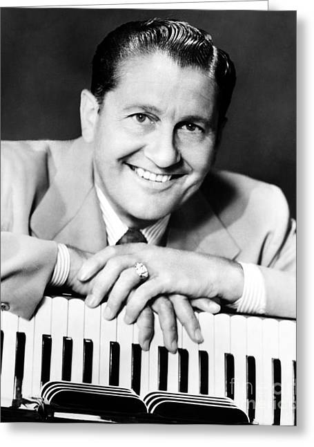 Bandleader Greeting Cards - Lawrence Welk (1903-1992) Greeting Card by Granger