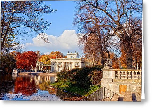 Recently Sold -  - Polish Culture Greeting Cards - Lazienki Park in Warsaw Greeting Card by Artur Bogacki